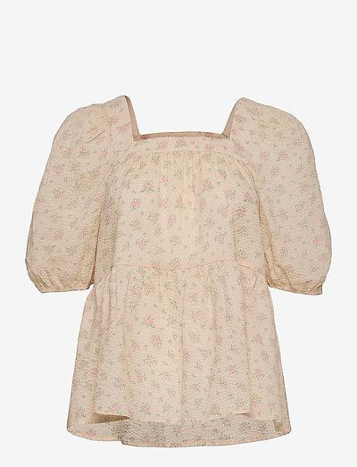 Juna print top - short-sleeved blouses - romantic flower