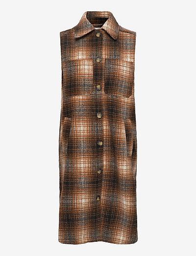 Kori check vest - midi kjoler - chipmunk check