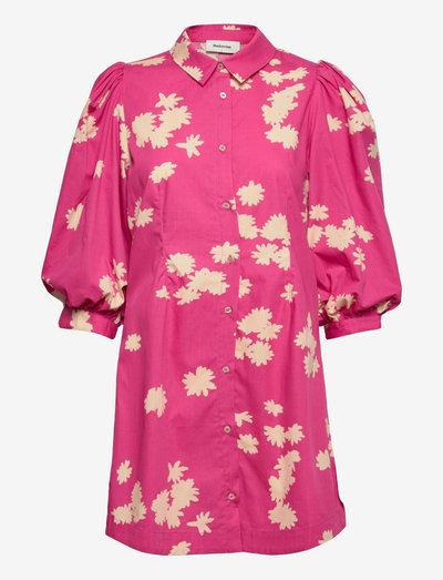 Milan print dress - sommerkjoler - wind flower pink
