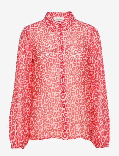 Lana print shirt - langærmede bluser - fire leo