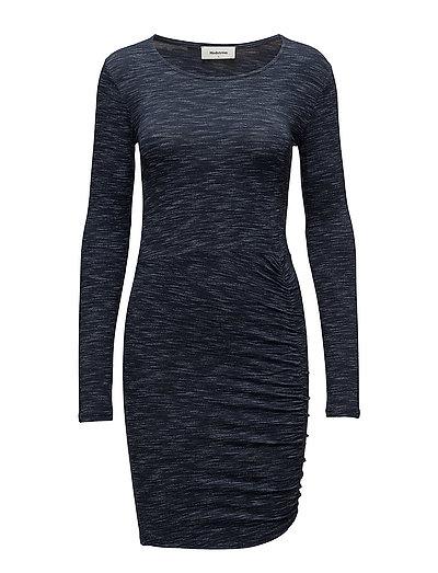 Tania speckle dress - NAVY SKY