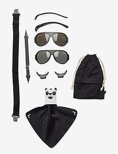 MO8009 Click&Change 2-5 år,  2 in 1 - solbriller - black