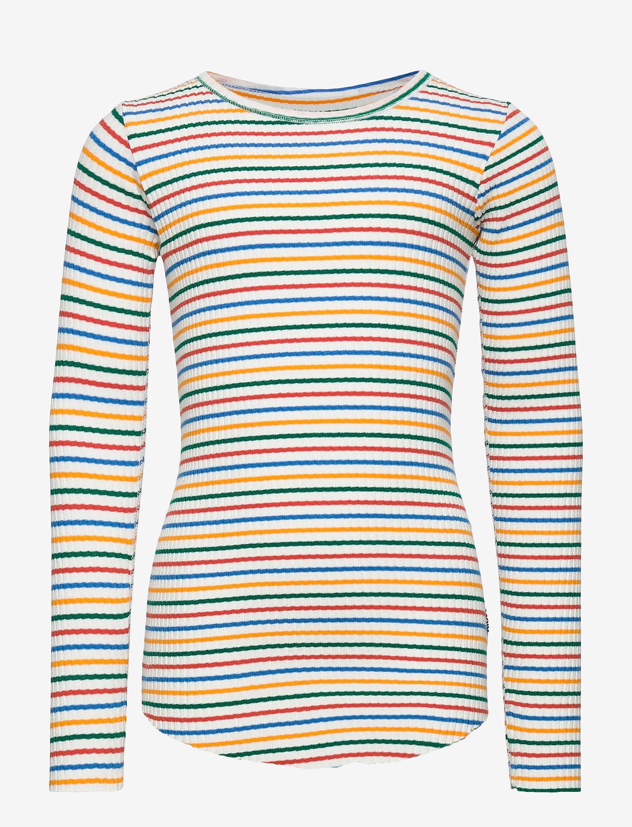 Molo - Rochelle - langærmede t-shirts - fine rainbow stripe - 0