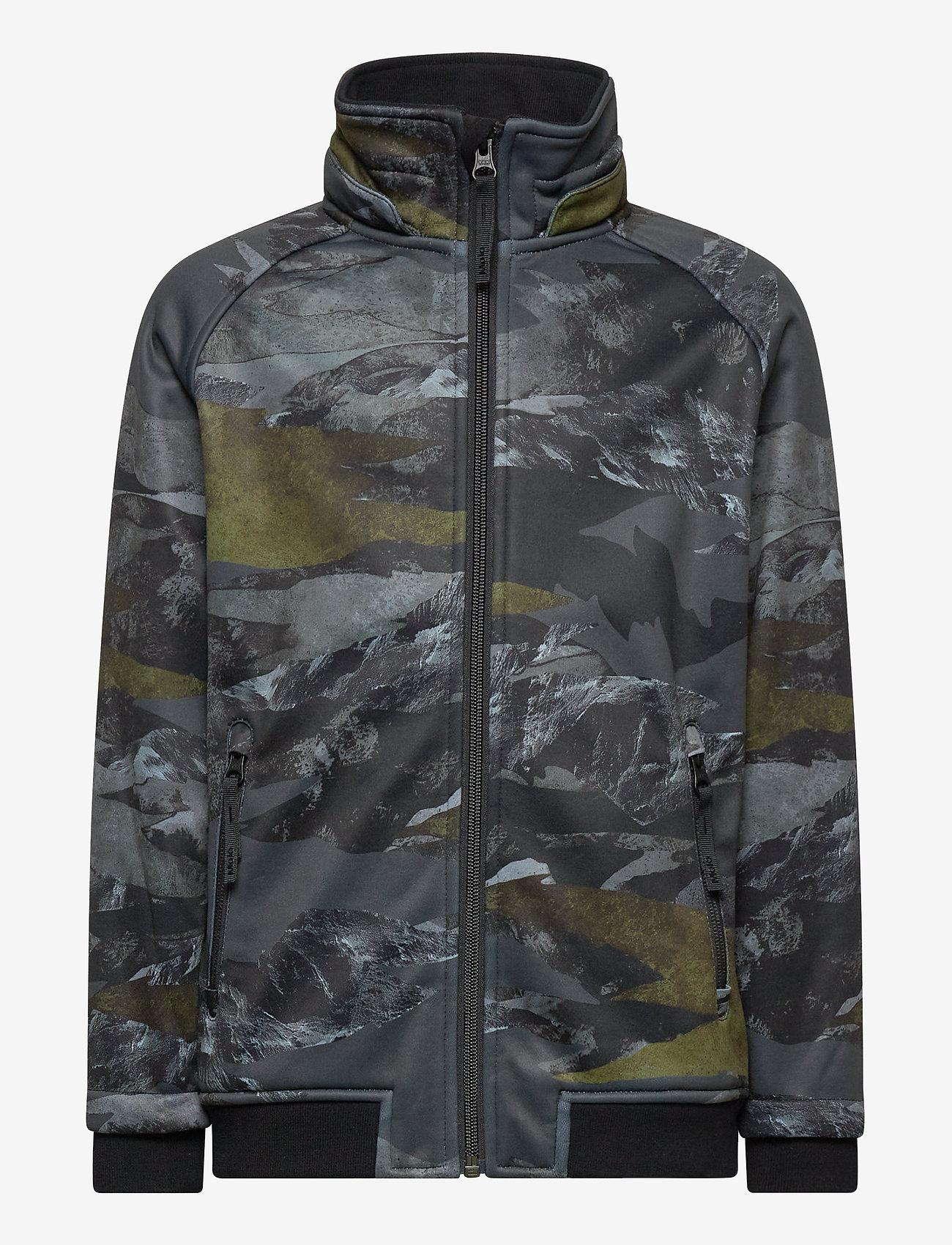 Molo - Cloudy - softshell-jakker - mountain camo - 1
