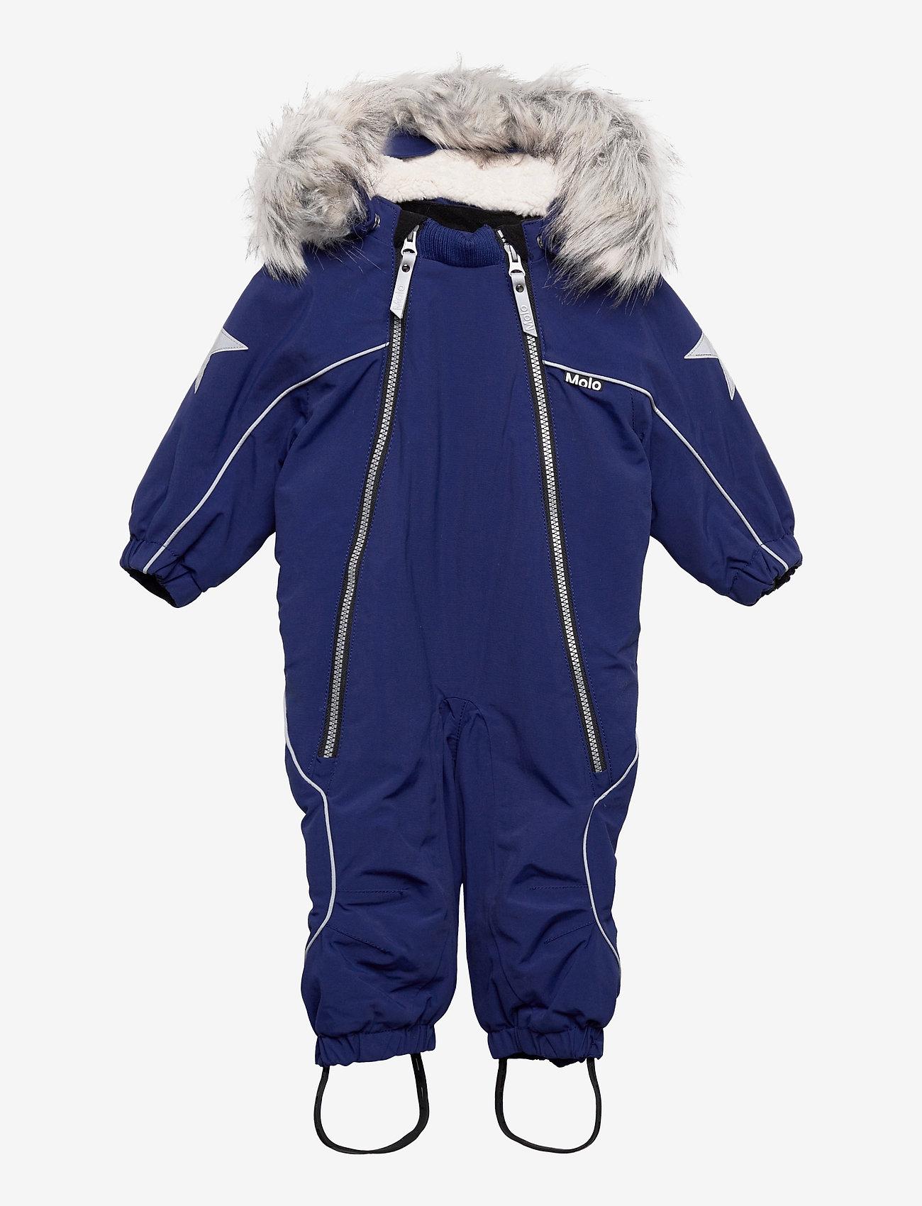 Molo - Pyxis Fur Recycle - snowsuit - ink blue - 0