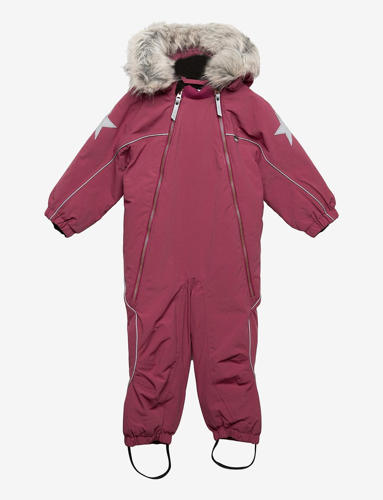 Molo - Pyxis Fur Recycle - snowsuit - maroon - 0