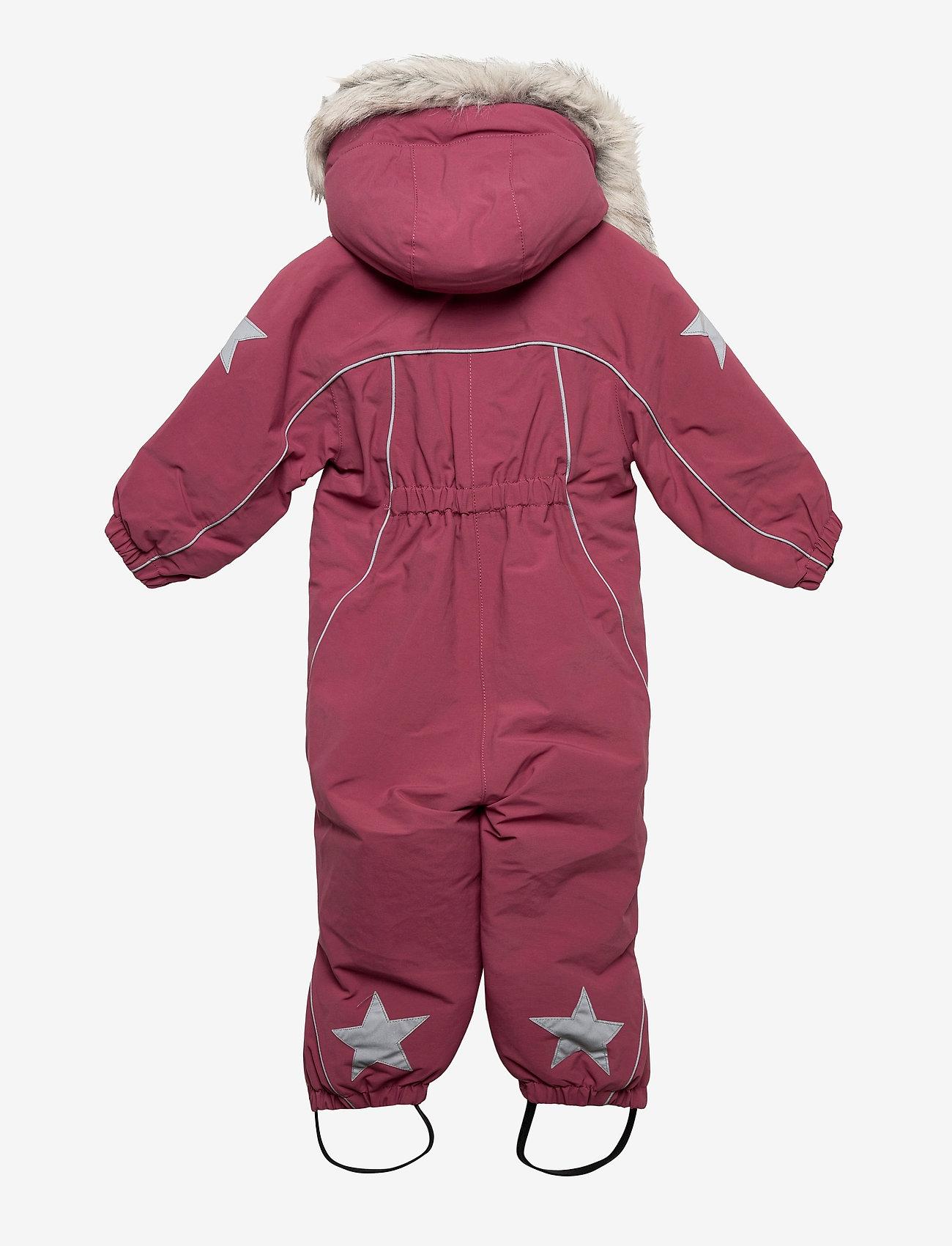 Molo - Pyxis Fur Recycle - snowsuit - maroon - 1