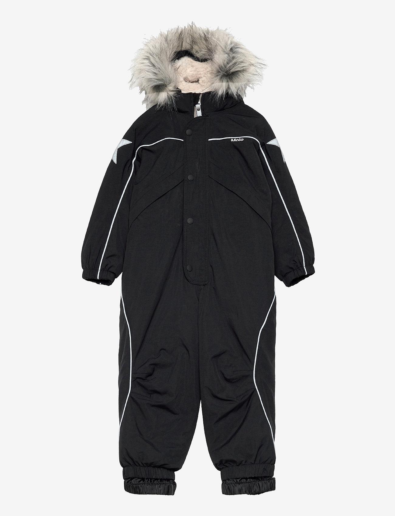 Molo - Polaris Fur - snowsuit - black - 0