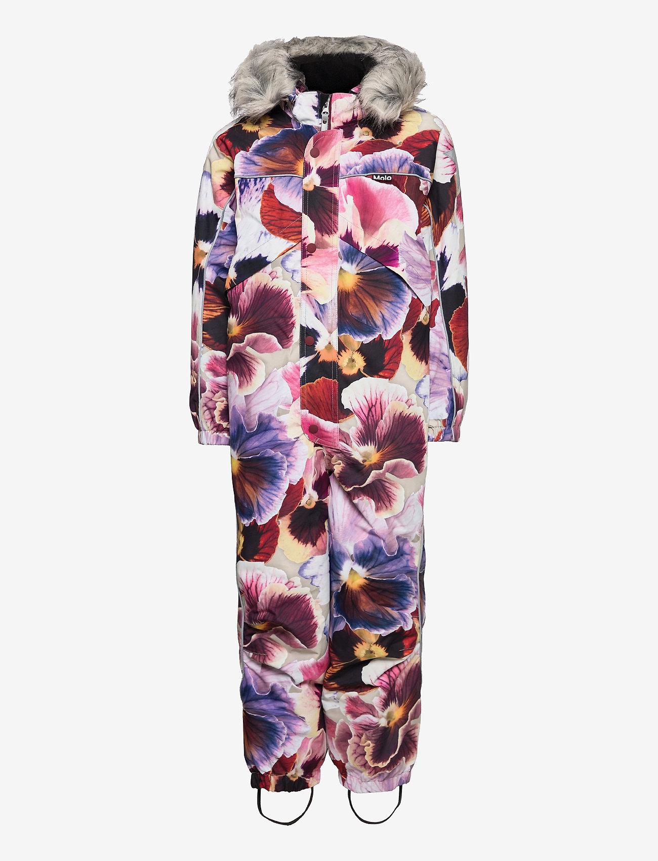 Molo - Polaris Fur - snowsuit - giant floral - 0