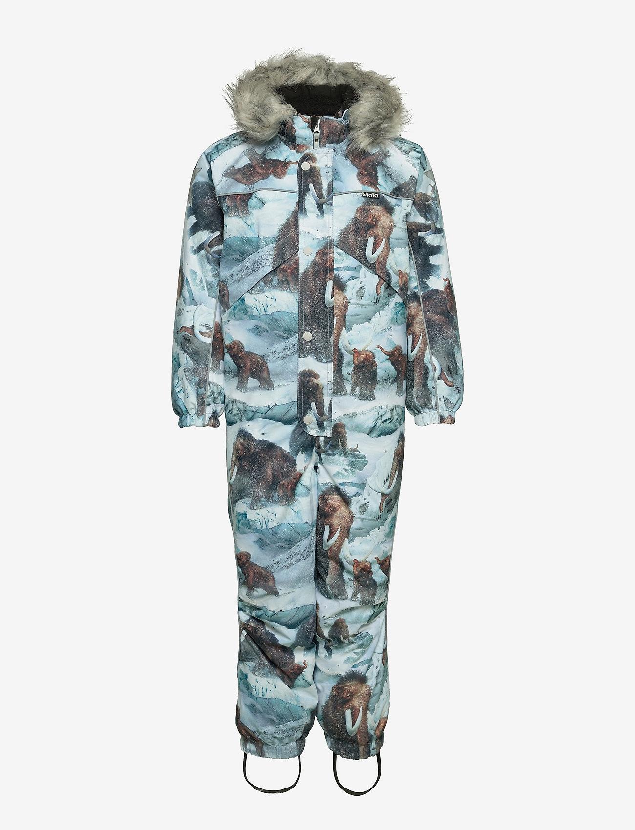 Molo - Polaris Fur - snowsuit - mammoth - 0