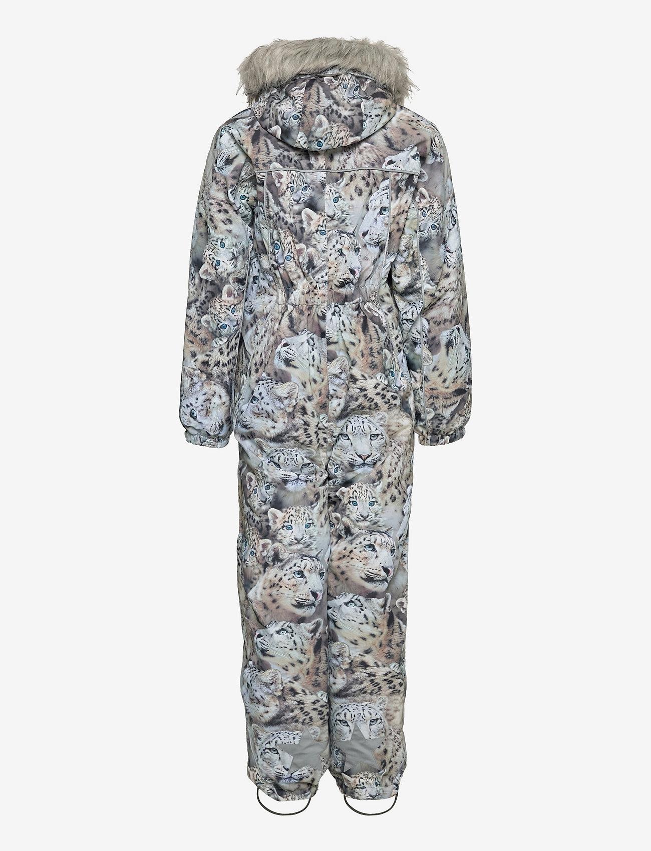 Molo - Polaris Fur - snowsuit - snowy leopards - 1