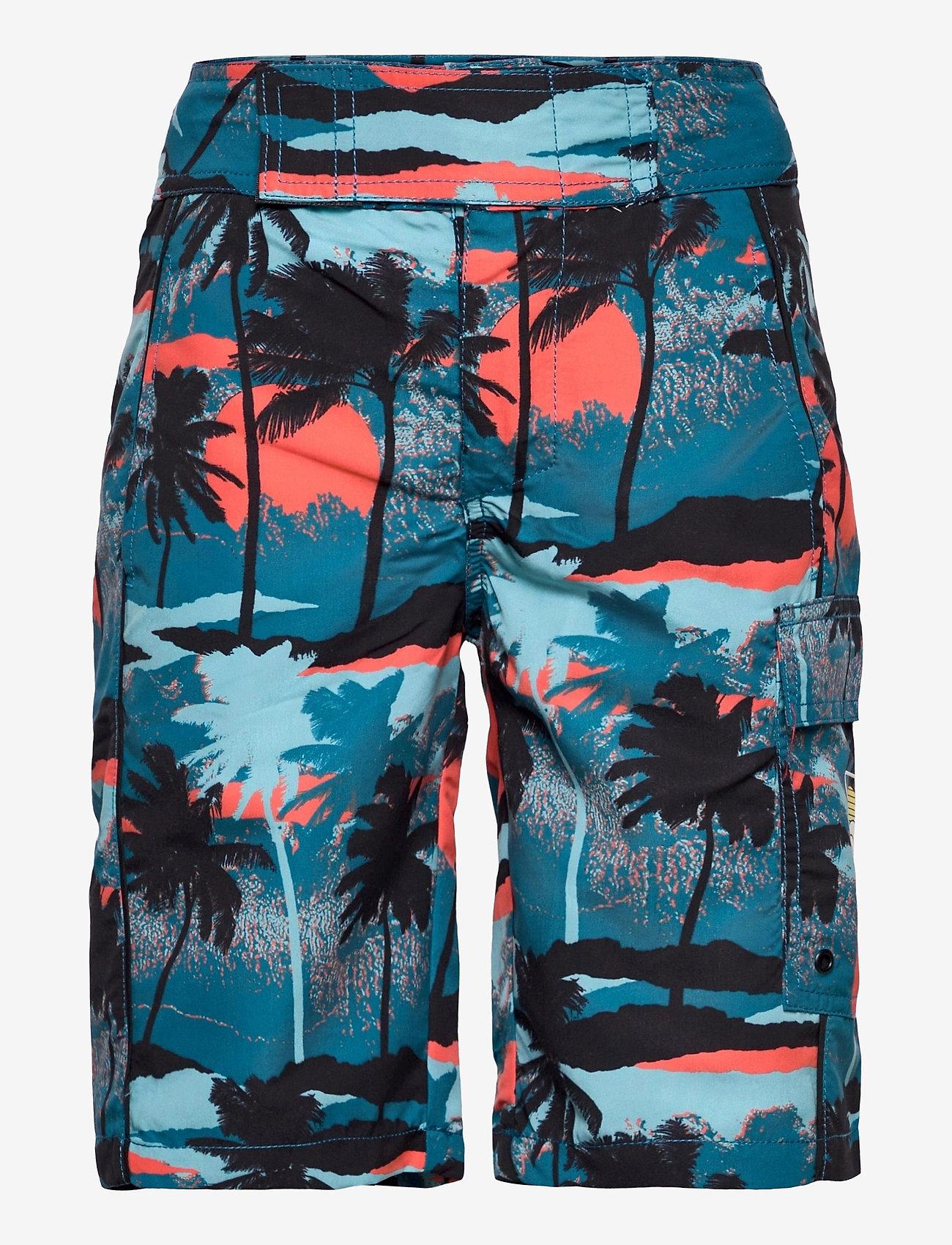 Molo - Natan - badehosen - palm trees blue - 0