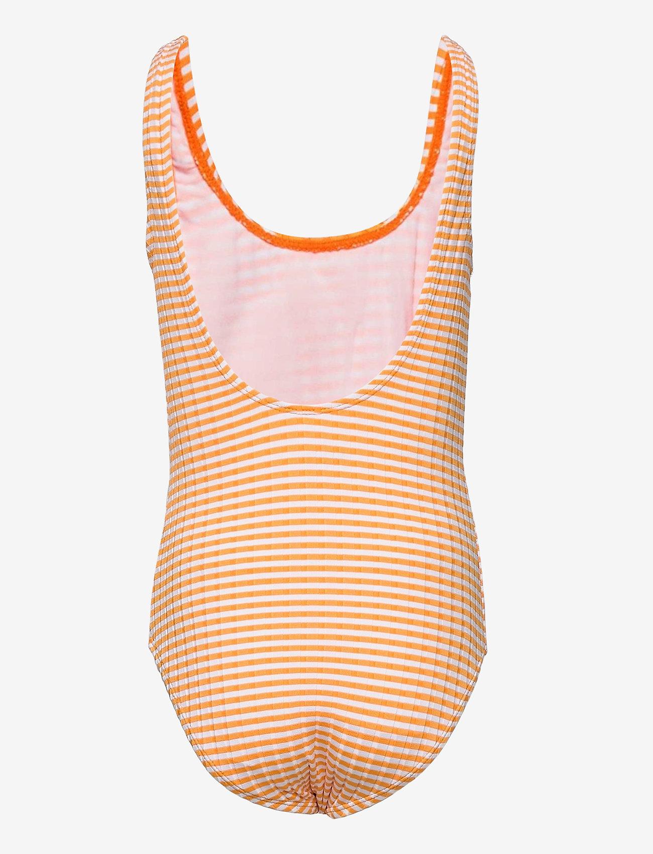 Molo - Nika - swimsuits - orange stripe - 1