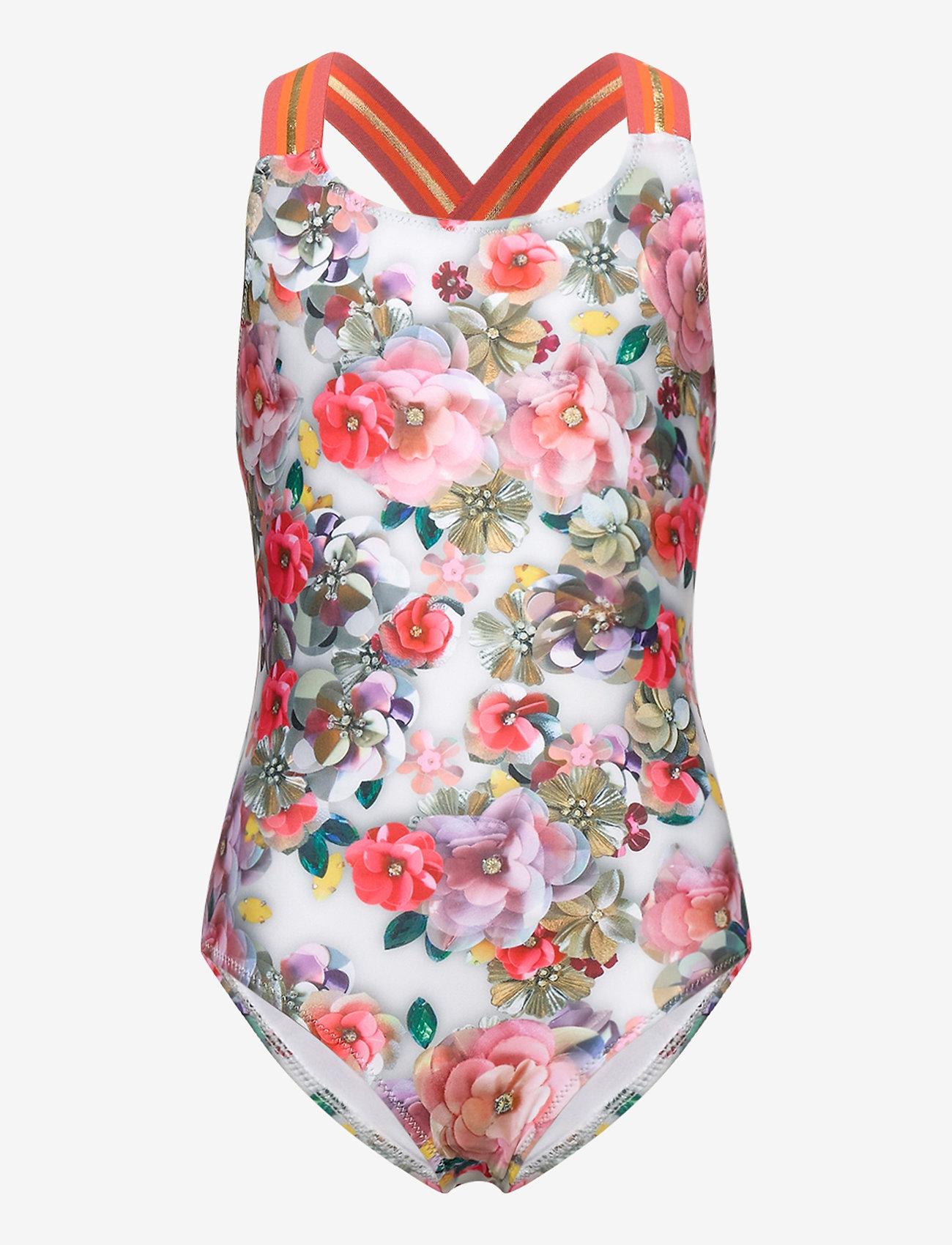 Molo - Neve - swimsuits - sequins flowers - 0
