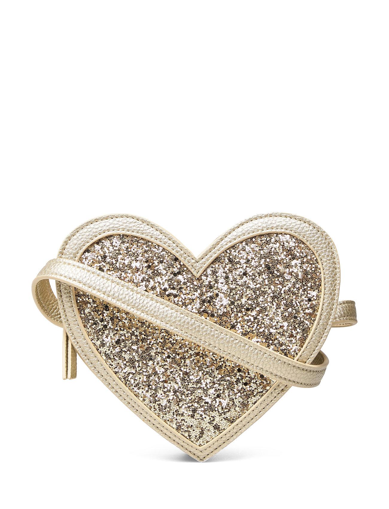 Molo Heart Bag - GOLD GLITTER