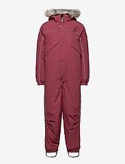 Molo - Polaris Fur Recycle - snowsuit - maroon - 0