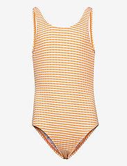 Molo - Nika - swimsuits - orange stripe - 0