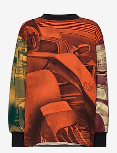Manu - sweatshirts - colourful race car