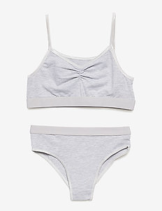 Jinny - bielizna komplet - light grey melange
