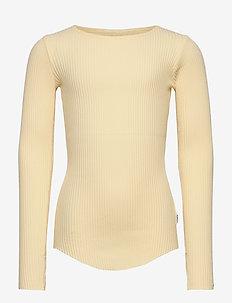 Rochelle - langærmede t-shirts - banana crepe
