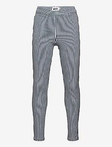 April - leggings - eclipse stripe