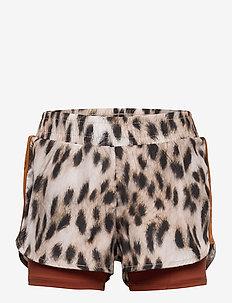 Omari - shorts - snowy leo fur