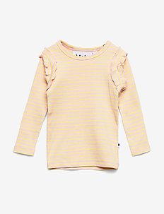 Emma - long-sleeved t-shirts - powder acacia stripe
