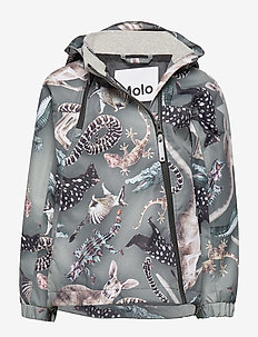 Hopla - kurtka softshell - camo bush animals
