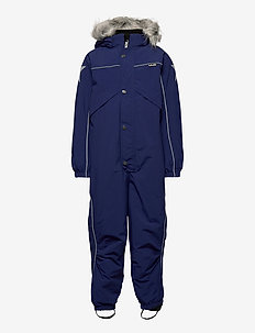 Polaris Fur Recycle - snowsuit - ink blue