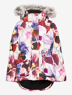 Cathy Fur - faux fur - giant floral
