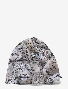 Ned Hat and Bib Set - hatte og handsker - baby leopards