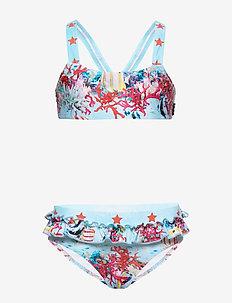 Naila - bikinier - coral stripe