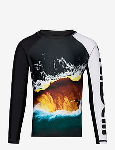 Neptune LS - uv-clothing - colour block waves