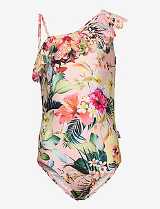 Net - swimsuits - hawaiian flowers