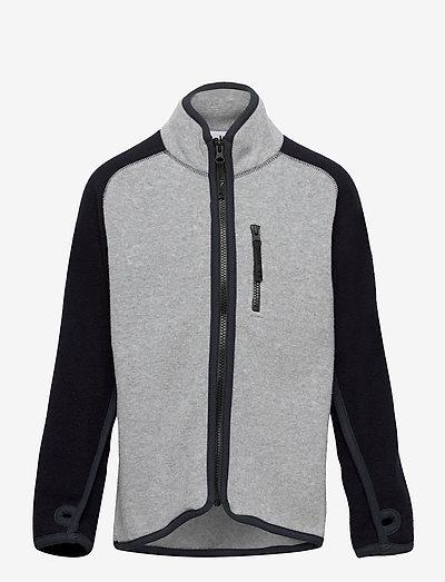 Ulrick - fleece jacket - grey melange