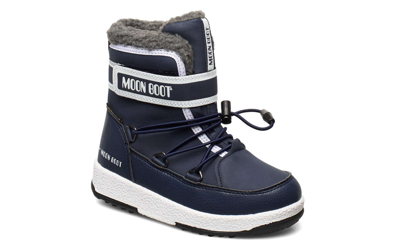 Moon Boot MB MOON BOOT JR BOY BOOT WP - BLUE NAVY/WHITE