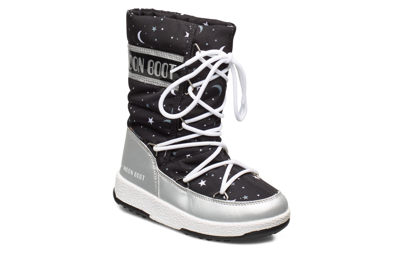 Moon Boot MB JR GIRLQ.UNIVERSE WP - SILVER/BLACK