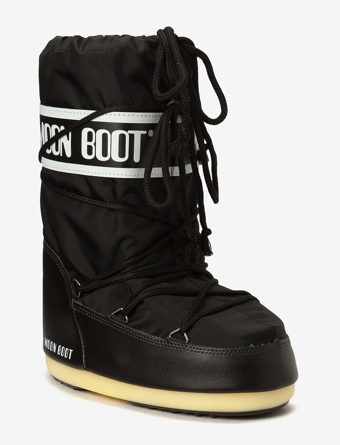 Moon Boot - MB MOON BOOT NYLON - puszābaki bez papēža - black - 0