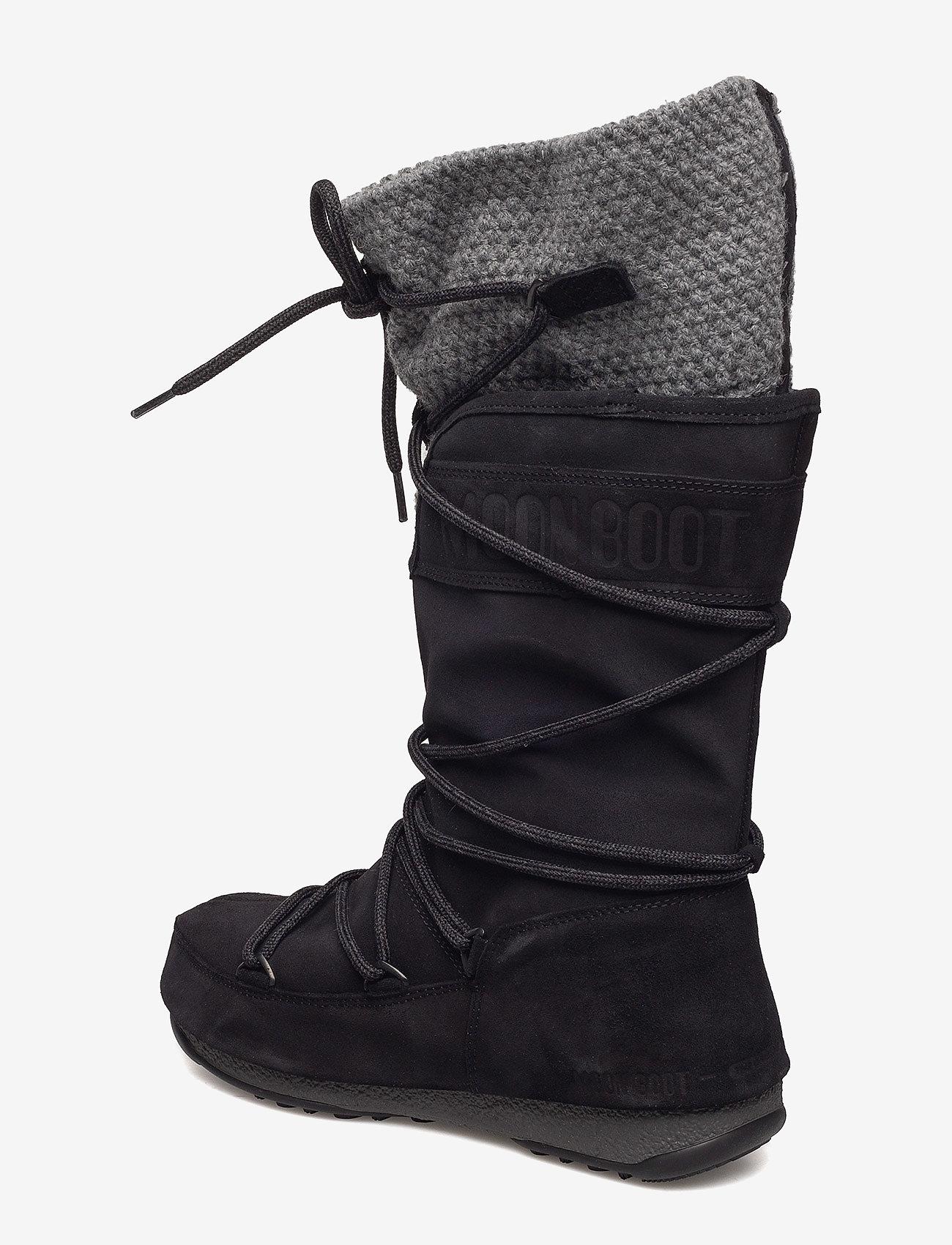Moon Boot W.e. Anversa Wool Wp (Black-grey) - Moon Boot