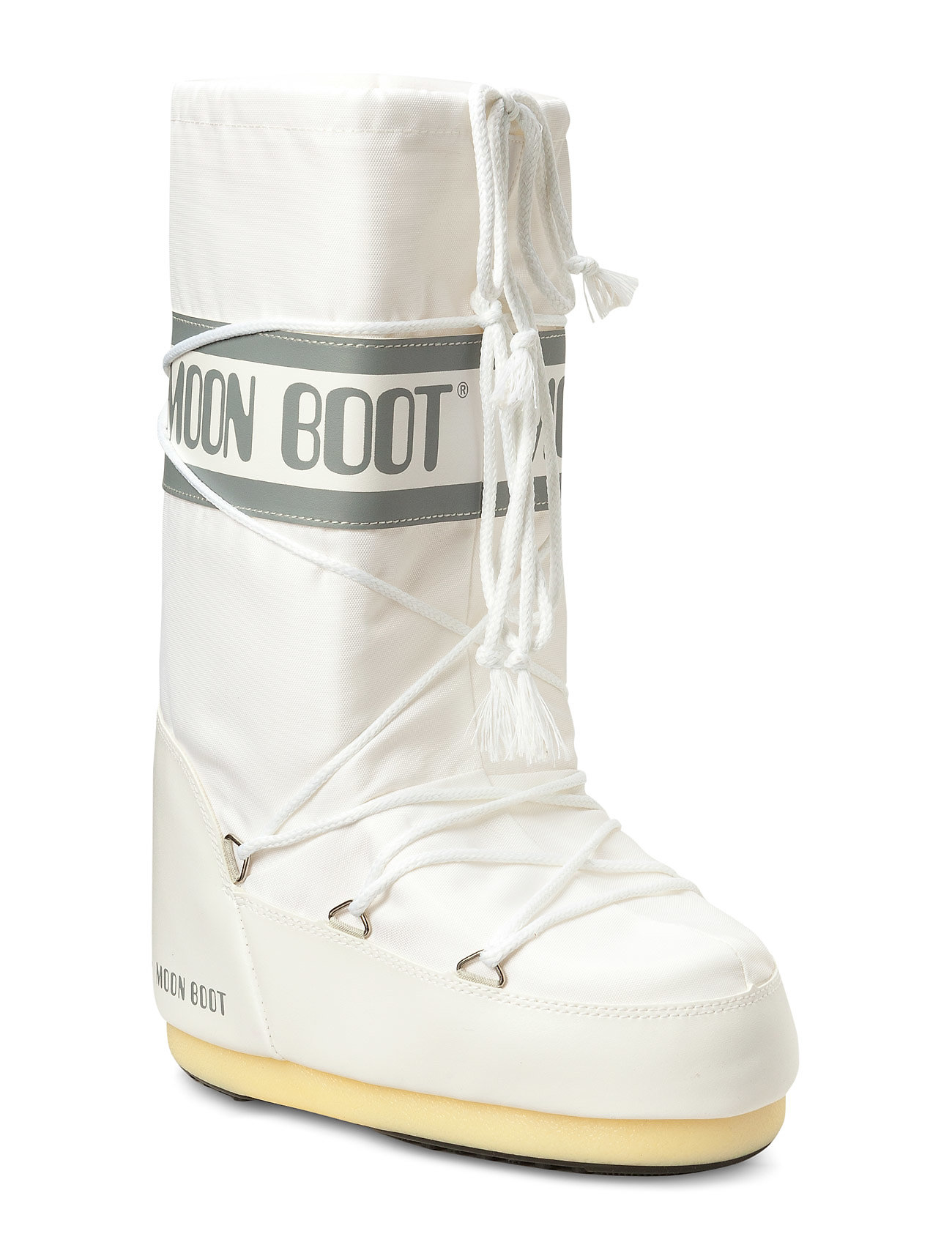 Image of Moon Boot Nylon Shoes Boots Ankle Boots Ankle Boot - Flat Hvid Moon Boot (3446397217)