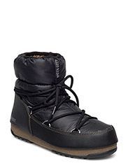 MB MOON BOOT W.E. LOW NYLON - NERO-BRONZO