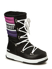 MB MOON BOOT W.E. QUILTED JR WP - BLACK-VIOLA-ORCHIDEA