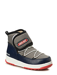 MB MOON BOOT W.E. JR STRAP WP - GRIGIO-B.NAVY-ROSSO