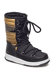 MB MOON BOOT WE QUILTED MET JR WP - NERO/ORO