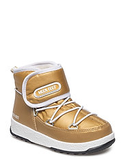 MB MOON BOOT W.E. JR STRAP MET WP - ORO/BIANCO