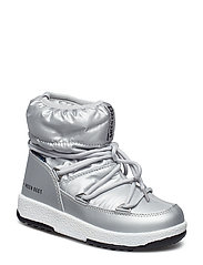MB M.BOOT WE JR GIRL LOW NYLON WP - SILVER MET.