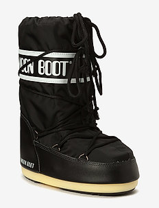 MOON BOOT NYLON - platte enkellaarsjes - black