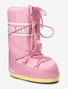 MOON BOOT NYLON - tasapohjaiset nilkkurit - pink
