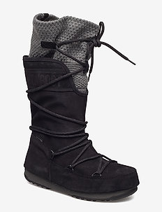 MOON BOOT W.E. ANVERSA WOOL WP - BLACK-GREY