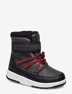 MB MOON BOOT JR BOY BOOT WP - BLACK-DARK GRAY 002